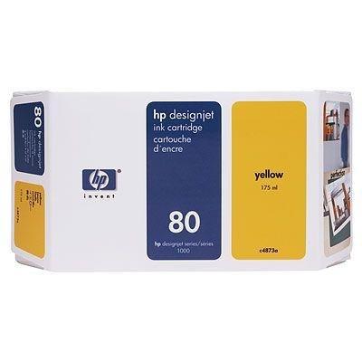 Tusz (Ink) HP 80 yellow (175ml) do DnJ 1050C/1050C+/1055CM/1055CM+ C4873A