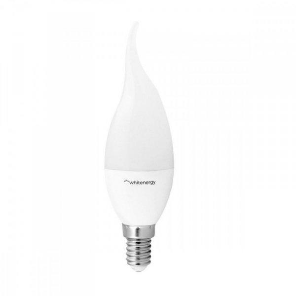 Whitenergy Żarówka LED 6XSMD2835 C37L E14 3W 240lm ciepła biała mleczna