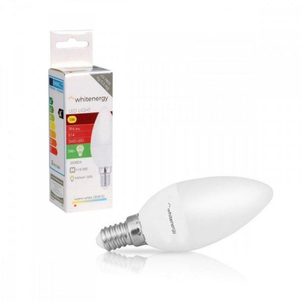 Whitenergy Żarówka LED 10XSMD2835 C37 E14 5W 396lm ciepła biała mleczna