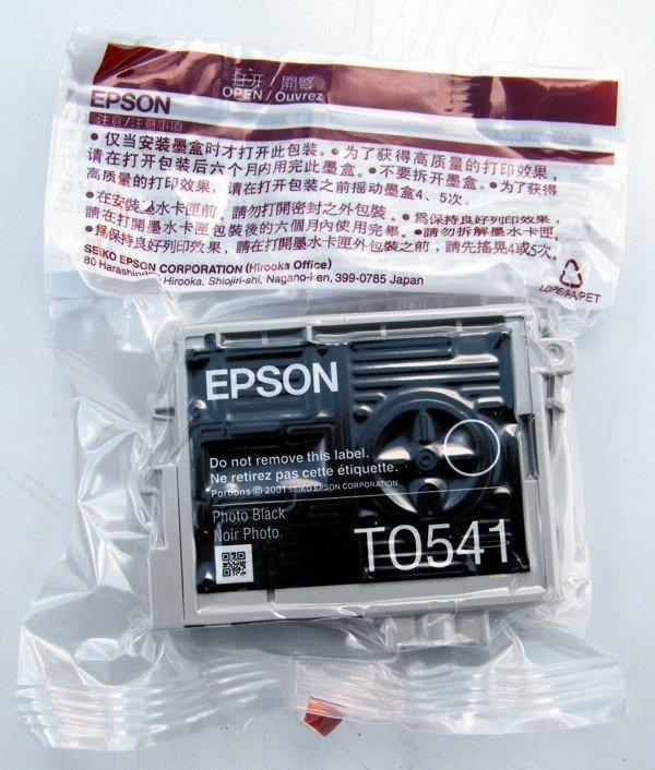 Tusz do Epson Stylus Photo R800/R1800 Photo Black Cartridge 550 str. T0541