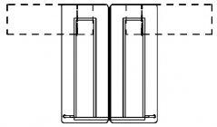 Biurko Simplic podwójne - rzut z góry