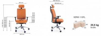 veris 11SFL chrom o fotel obrotowy PROFIM Biurokoncept