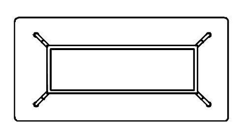 Biurko Simplic S1-13 rzut z góry