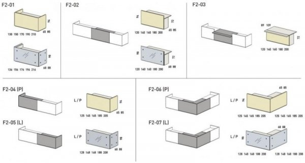 LADA RECEPCYJNA FURONTO SZKŁO 2F2-04+ F2-07 + F2-21 + F2-25