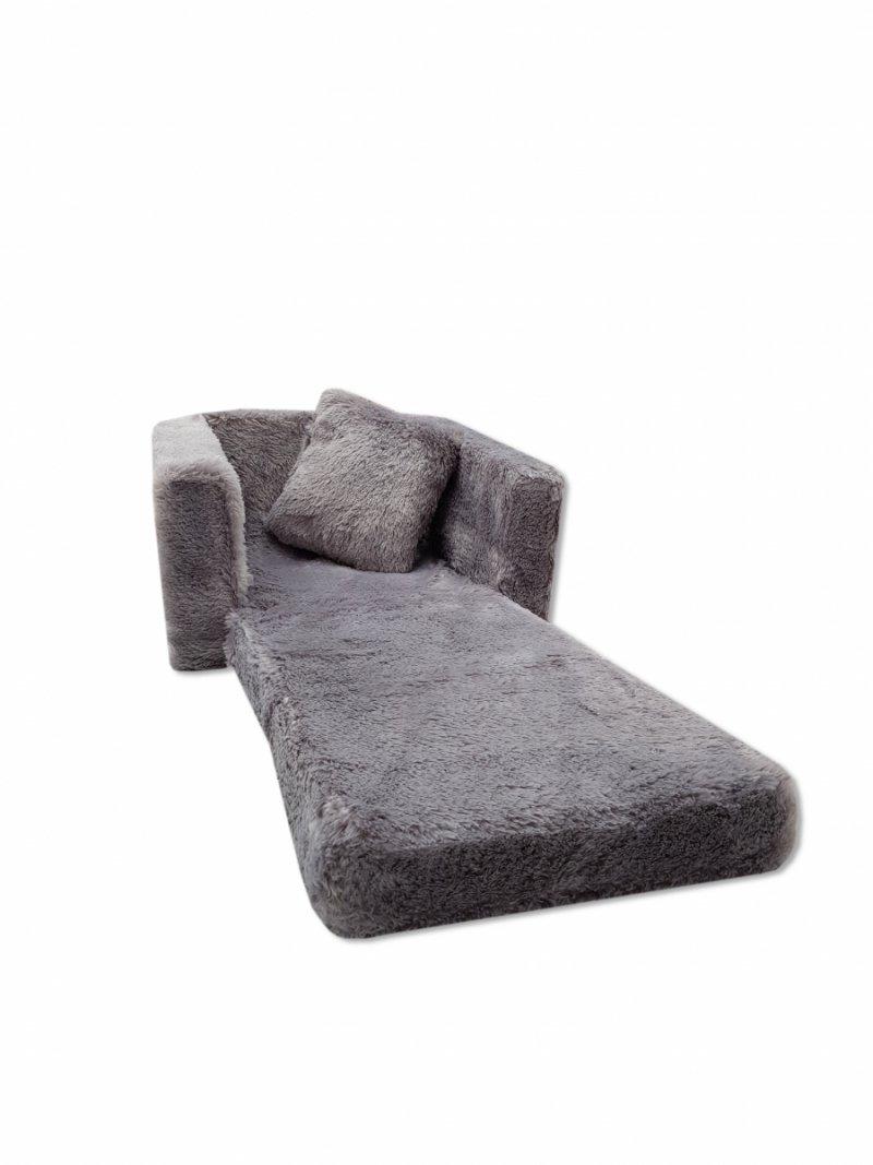 Fotel rozkładany dla dzieci- SZARY