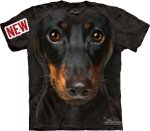 KOSZULKA T-SHIRT THE MOUNTAIN DASCHUND FACE 10-3334