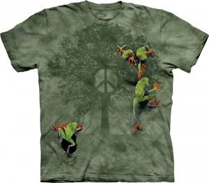 T-Shirt - Koszulka Peace Tree Frog The Mountain 10-2289