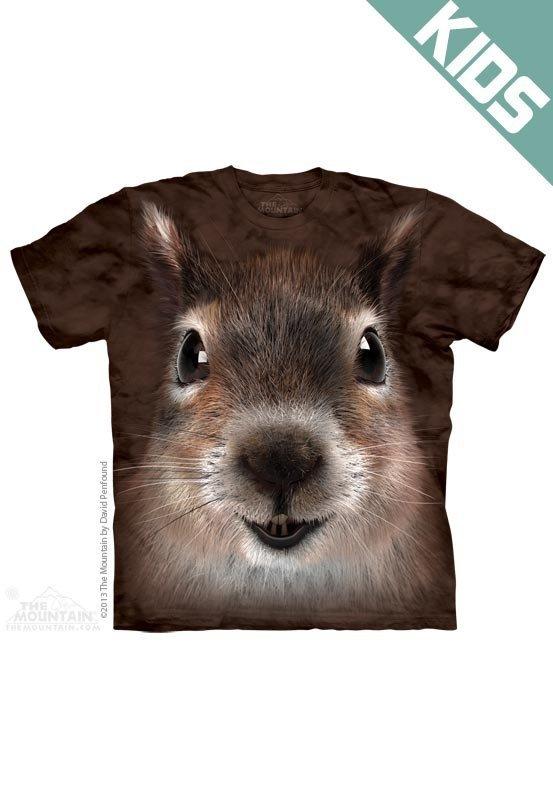 Koszulka dziecięca THE MOUNTAIN SQUIRREL FACE 15-3734