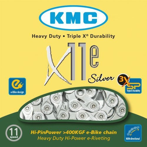 Łańcuch 11rz KMC X11e Silver dla e-Bike