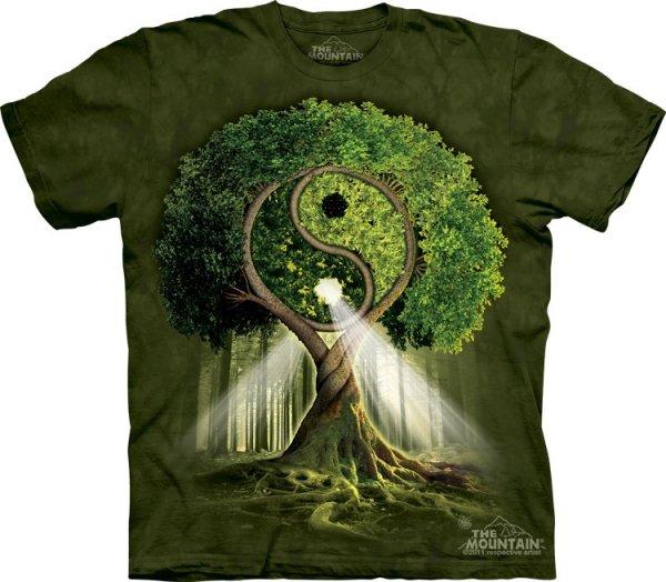 THE MOUNTAIN KOSZULKA T-SHIRT  YIN YANG TREE 10-3209