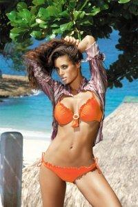 Kostium kąpielowy Megan M-056 pomarańczowy
