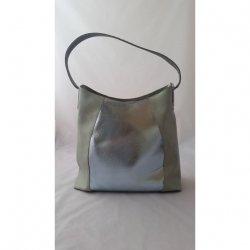 Stylowa zielono srebrna torebka na ramię CHIARA