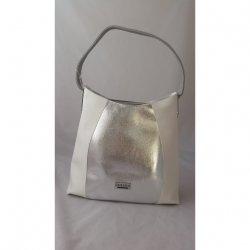 Stylowa biało srebrna torebka na ramię CHIARA