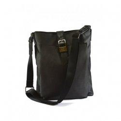 Czarno-grafitowa torba Versace
