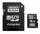 Karta pamięci GOODRAM microSDHC 16GB CL4 + ADAPTER SD