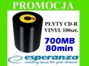 ESPERANZA PŁYTY CD-R VINYL SZPINDEL 100 szt 2093