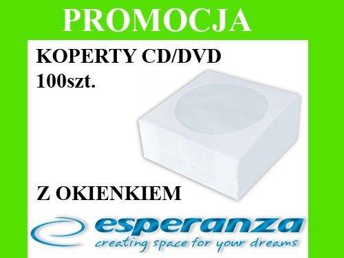 KOPERTY NA PŁYTY CD/DVD Z OKIENKIEM 100 SZTUK