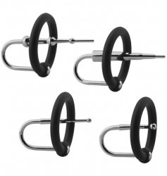 Kink Ring & Plug Set - Silicone & Stainless Steel Cock Accessory