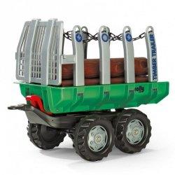 Rolly Toys rollyTrailer Przyczepa wywrotka do przewozu drewna