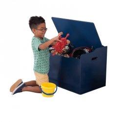 KidKraft Drewniana skrzynia na zabawki ławka 2w1 Austin Granatowa