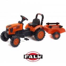 FALK traktor na pedałki Kubota z przyczepką