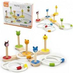 Drewniana gra Rzut pierścnieniem Zwierzątka Viga Toys