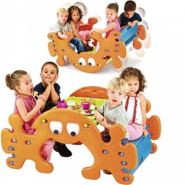 FEBER Duży Stolik Piknikowy - Bujak Huśtawka Ghost
