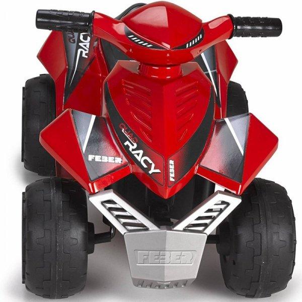 Feber Czerwony Quad Racy na akumulator 6V