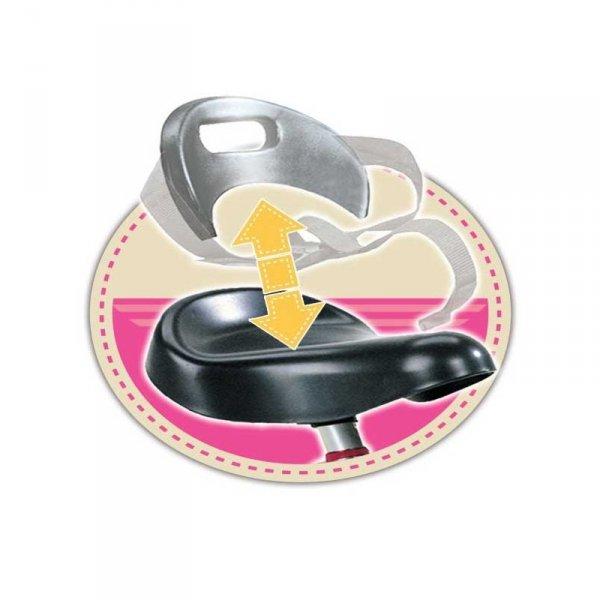 Smoby Rowerek trójkołowy ciche piankowe koła Zooky różowy