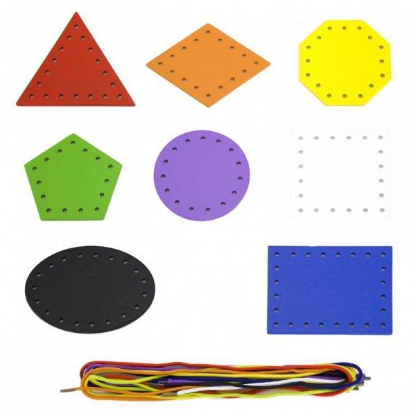 VIGA Drewniane Tablice sensoryczne ze sznurowadłami