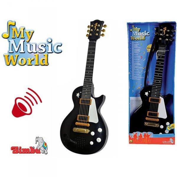 Simba Czarna Gitara Rockowa Ze Strunami Efekty Dźwiękowe