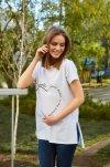 Piżama ciążowa i do karmienia krótki rękaw 4461