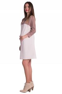 Sukienka ciążowa i do karmienia dwukolorowa 3990