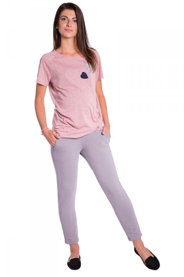 Spodnie ciążowe dresowe 7/8 z panelem 3822