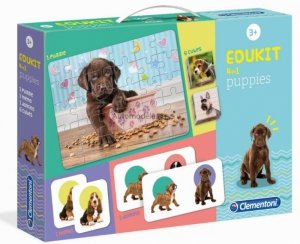 EDU KIT PIESKI PUPPIES MEMO DOMINO KOSTKI PUZZLE