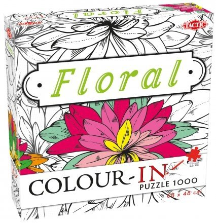 PUZZLE DO MALOWANIA COLOUR IN FLORAL KWIATY 1000 EL TACTIC