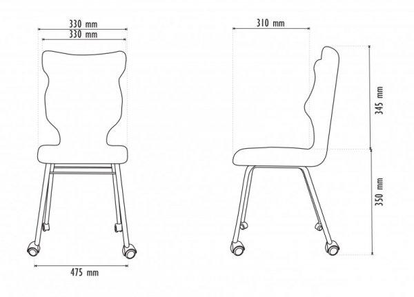 Krzesło RETE czarny Storia 28 rozmiar 3 wzrost 119-142 #R1
