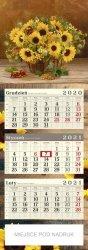 SŁONECZNIKI Kalendarz trójdzielny POSTER 2021 z miejscem na nadruk