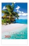 Kalendarz ścienny wieloplanszowy Tropical Beaches 2021 - okładka