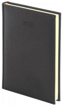 Kalendarz książkowy 2020 A5 tygodniowy Z NOTESEM papier biały oprawa VIVELLA EXCLUSIVE czarna