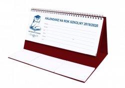Kalendarz biurkowy EXCLUSIVE na rok szkolny 2019/2020 bordowy