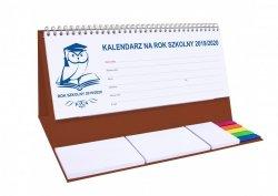 Kalendarz biurkowy EXCLUSIVE PLUS na rok szkolny 2019/2020 brązowy