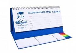 Kalendarz biurkowy EXCLUSIVE PLUS na rok szkolny 2019/2020 niebieski