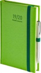 Kalendarz nauczyciela 2019/2020 format A5 układ dzienny oprawa skóropodobna NEBRASKA SELEDYNOWA z obszyciem zamykana na gumkę + mocowanie na długopis