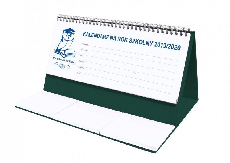 Kalendarz biurkowy EXCLUSIVE na rok szkolny 2019/2020 - zielony
