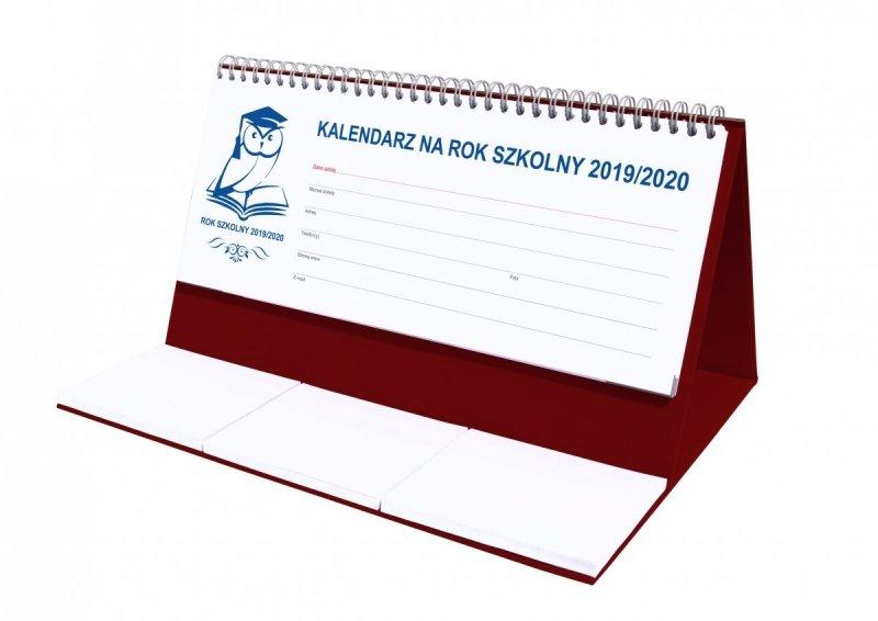 Kalendarz biurkowy EXCLUSIVE na rok szkolny 2019/2020 - bordowy