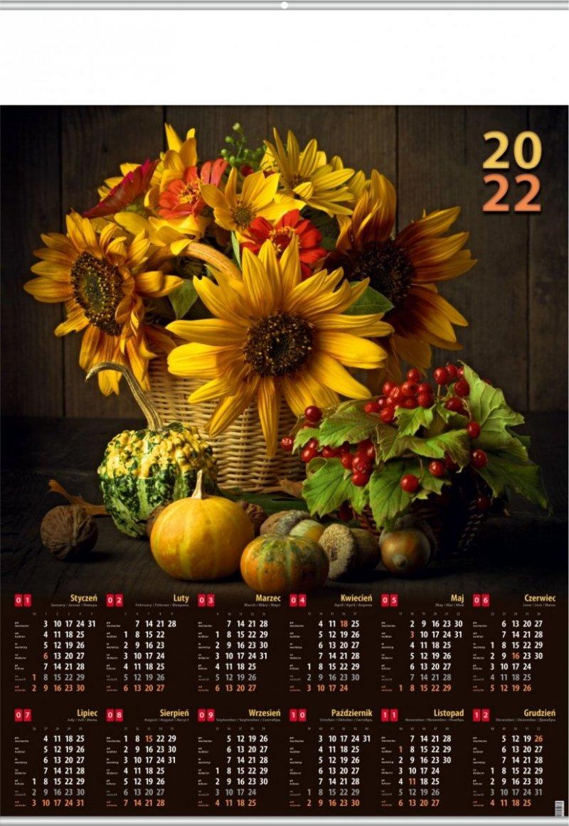 Kalendarz plakatowy B1/10  SŁONECZNIKI 2022