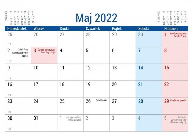Kalendarz na biurko stojący PLANO na rok 2022 - maj