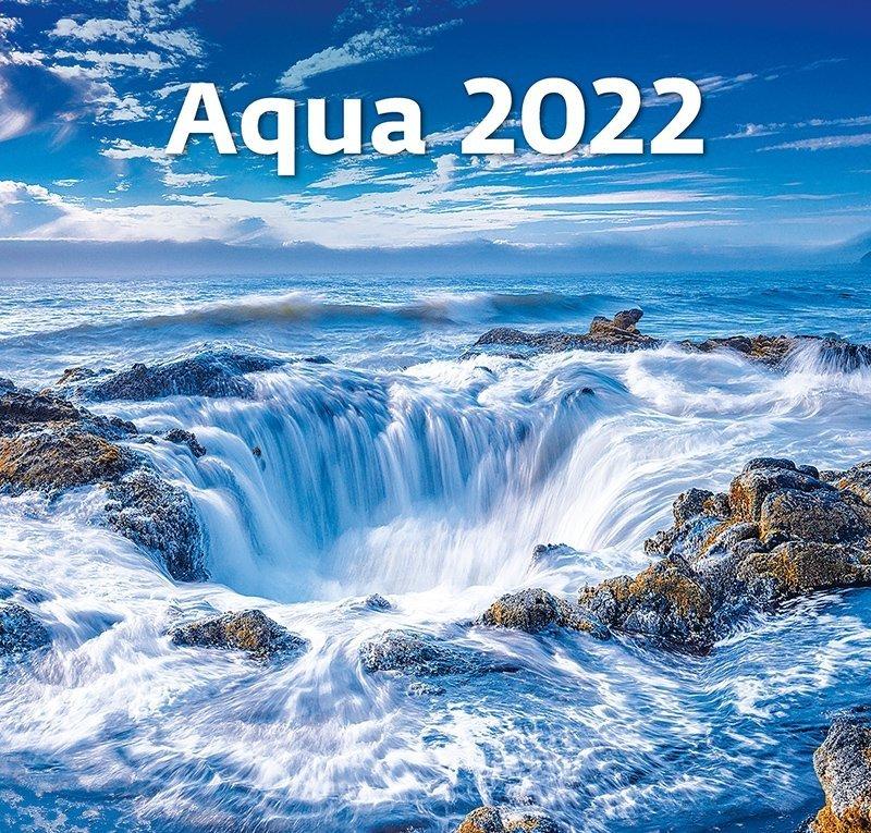 Kalendarz ścienny wieloplanszowy Aqua 2022 - okłada