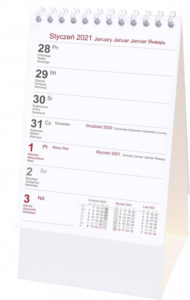Kalendarz biurkowy stojący PIONOWY TYGODNIOWY 2021